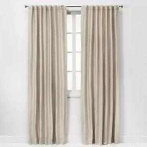 Threshold Room Darkening Curtain 95 in Ivory Cream